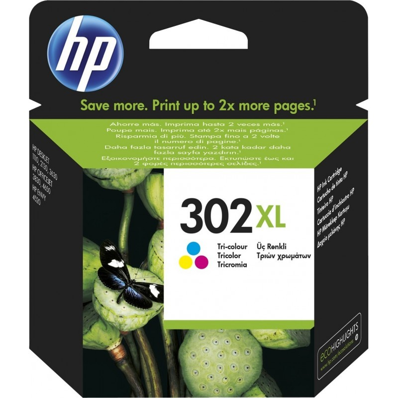 Kartuša HP 302 XL (F6U67AE) barvna