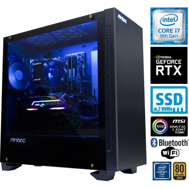 Računalnik MEGA 9000 i7-9700K 5SSD32 2T RTX2070 RGB