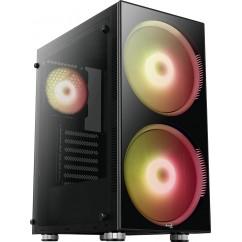 Ohišje Aerocool PYTHON, ATX, RGB (črno)