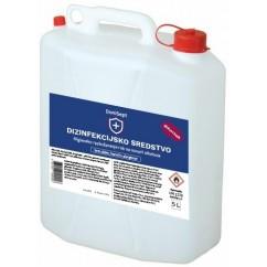 Razkužilo za površine 5L, 75% Alkohola (dezinfekcijsko sredstvo) + 160 kos 30ml flaška z razpršilko