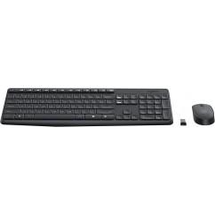 Brezžični komplet Logitech Desktop MK235 (miška, tipkovnica)