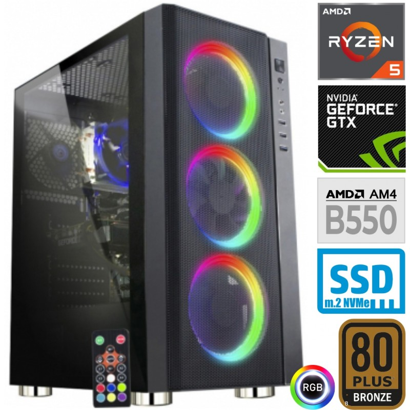 Računalnik MEGA 6000Y Ryzen 5 3600 5SSD16 1T GTX1660 SUPER RGB