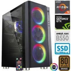 Računalnik MEGA 6000Y Ryzen 5 3600 5SSD16 2T GTX1660 SUPER RGB