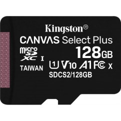 Spominska Kartica microSD KINGSTON Canvas React U3 128GB