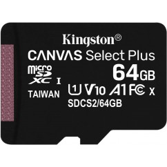 Spominska Kartica microSD KINGSTON Canvas Select Plus C10 64GB