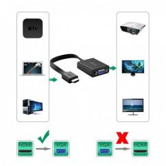 Ugreen HDMI na VGA + 3.5MM Audio+MicroUSB konverter črn (40248)