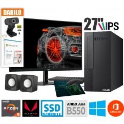 Računalniški komplet ASUS ExpertCenter X5 X500MA 4600G 2T 27MTZPK WIN + Office